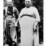 Ed and Lizzie Mabry. This shot was taken sometime in the 1930's, when Ed began having trouble walking. Note the crutches.
