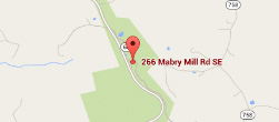 Google Map of Mabry Mill