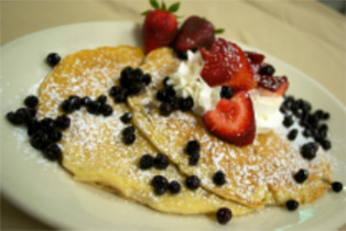 Strawberry Blueberry Pancakes